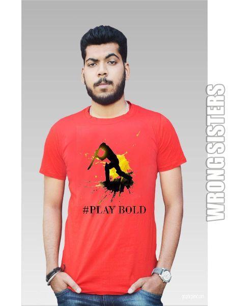 Play Bold Printed Half Sleeve T-Shirt