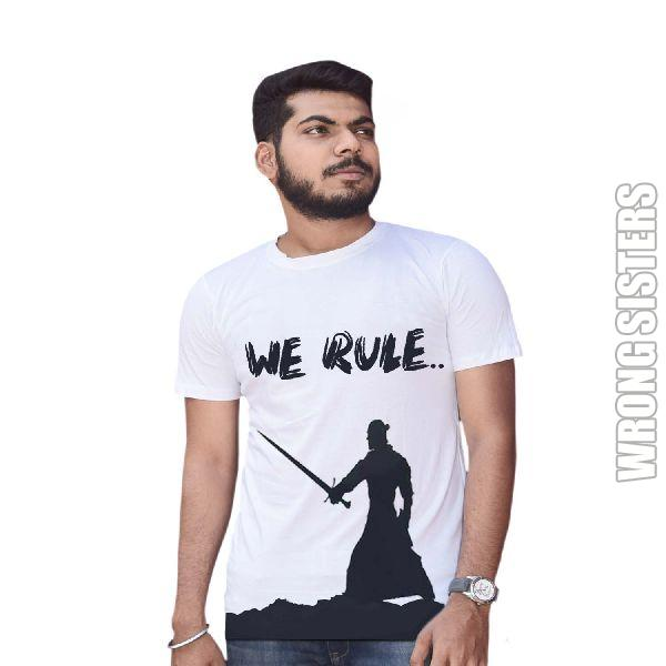 We Rule Printed Half Sleeve T-Shirt