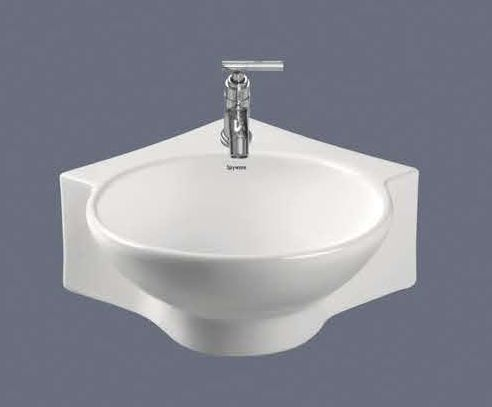 Stingo Corner Wall Hung Wash Basin