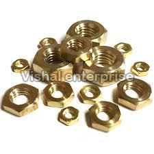Brass Hex Half Nuts