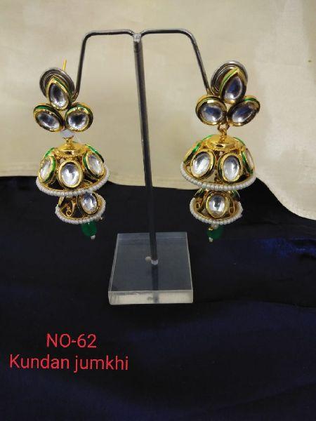 Kundan Jhumki Earrings