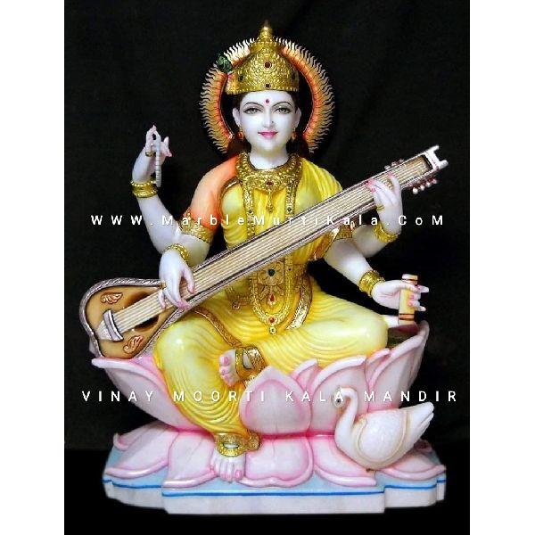 White Saraswati Statue
