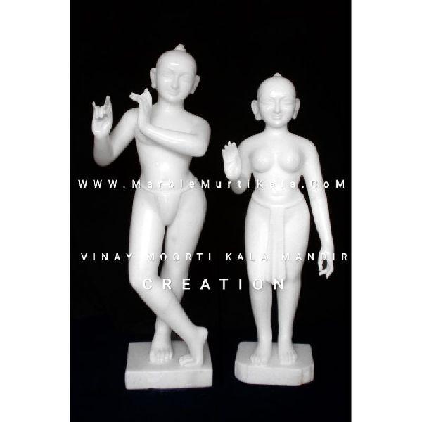 White Marble Lord Krishna Idol