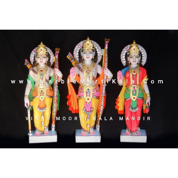 Multicolor Ram Darbar Marble Idol