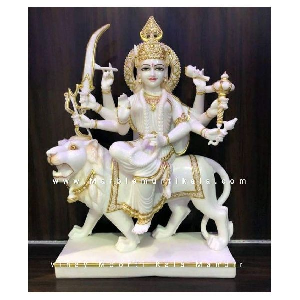 White Durga Mata Marble Statue Manufacturer Supplier In