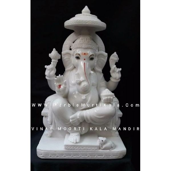 Ganesh Ji Sitting on Sighasan Murti