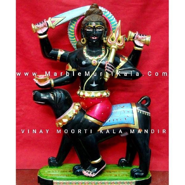 Black Kal Bhairav Ji Marble Statue