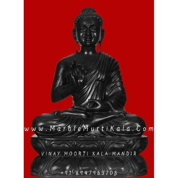 Black Stone Buddha Antique Sculpture for Outdoor