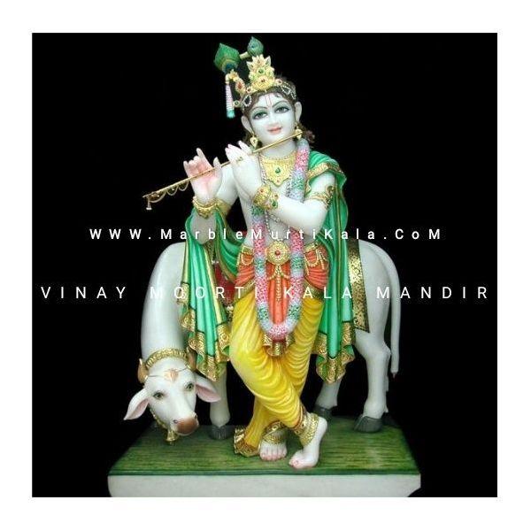 Gau Gopal Marble Statue