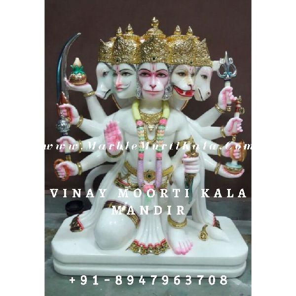 Marble Panchmukhi Hanuman Statue Manufacturer Supplier In