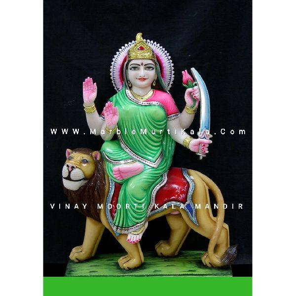 Kushmanda Mata Marble Statue