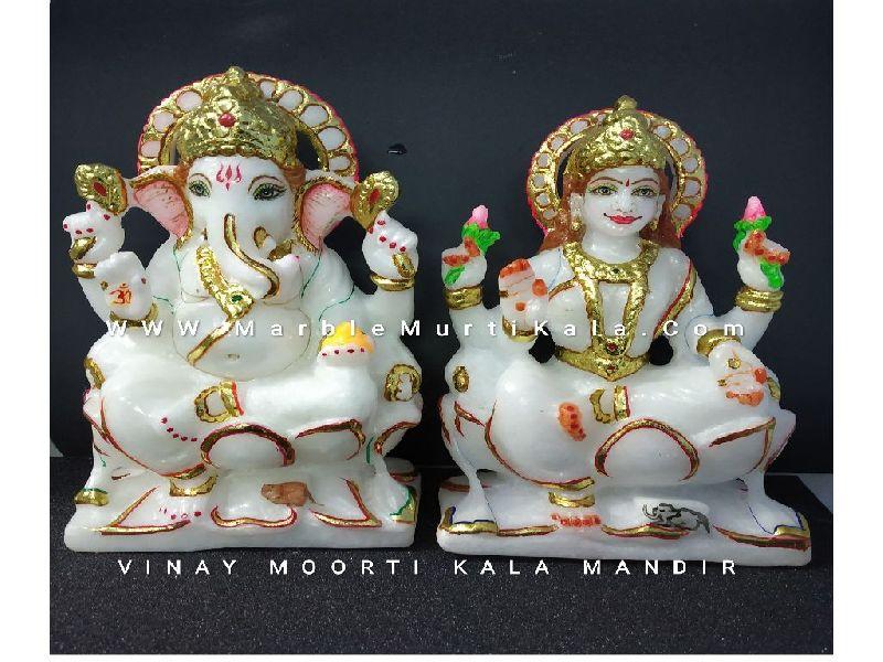Ganesh Laxmi Marble Statue