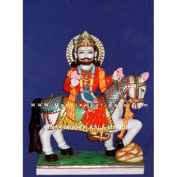 Ramdev Baba Marble Statue