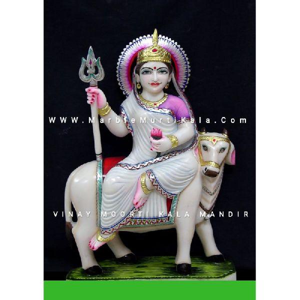 Shailputri Marble Statue