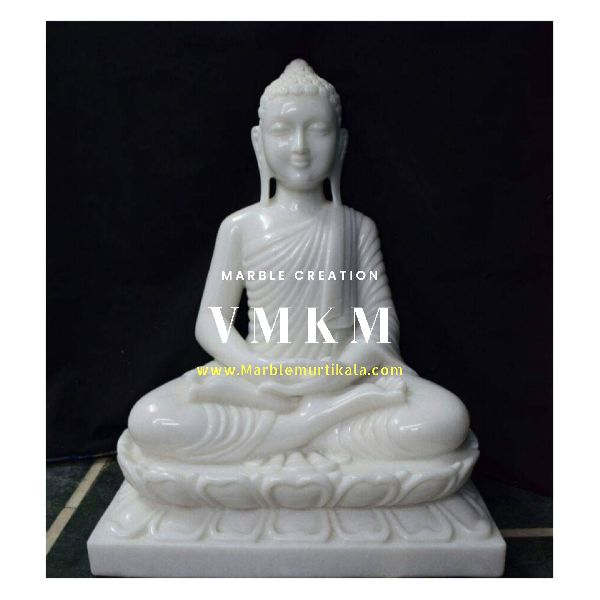 White Buddha Marble Statue