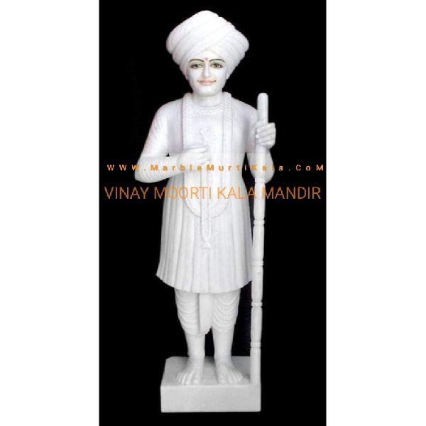 White Jalaram Bapa Marble Statue