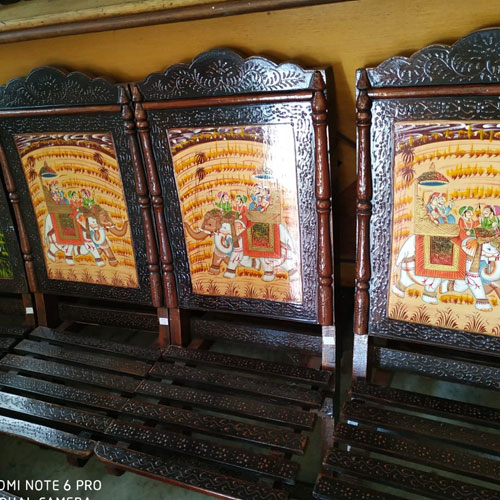 Rajasthani Wooden Painted Chair