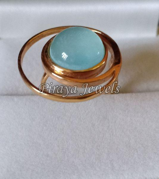 Gold Plated Gemstone Ring