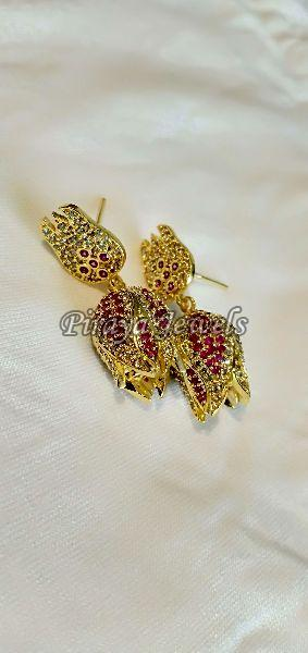 E0004SYN Multi Gold Plated Earrings