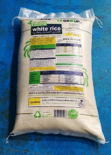 25% American White Rice