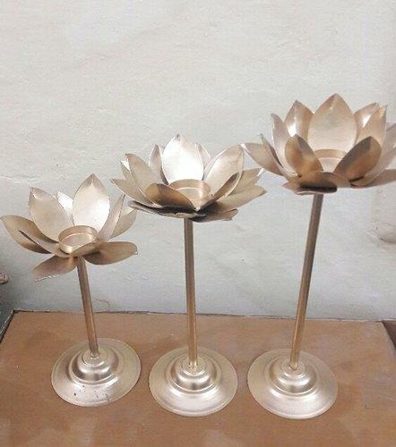 Metal Lotus Diya