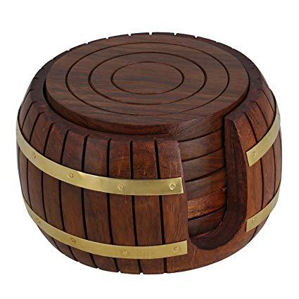 Wooden Round Tea Coaster