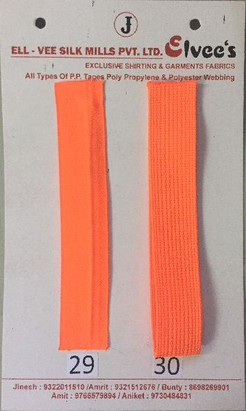 Dark Orange Stripe Polyester Webbing