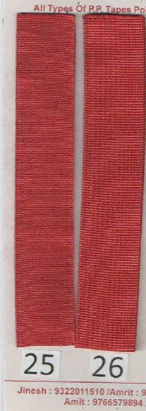 Dark Red Stripe Polyester Webbing