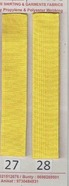 Lemon Yellow Stripe Polyester Webbing