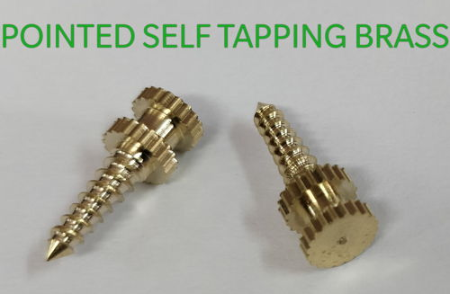 Brass Pointed Screws