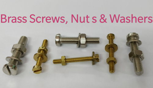 Brass Screws with Nut and Washers