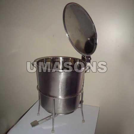 Stainless Steel Foot Dustbin