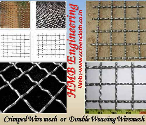 Crimpe Wire Mesh Screen