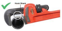 Figure 3 - Maintain Gap Between Hook Shank and Work Piece