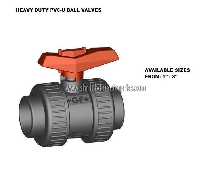 Heavy Duty PVC U Ball Valve