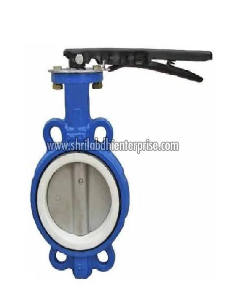 MS Body With Teflon Lining Butterfly Valve