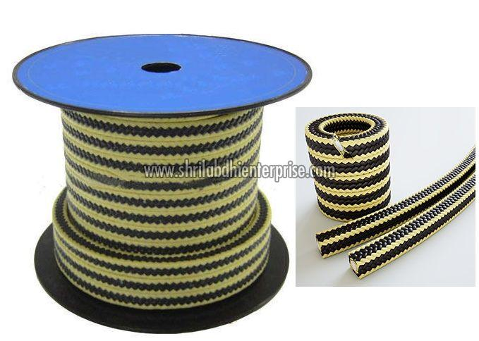 Yellow Black Gland Packing Rope