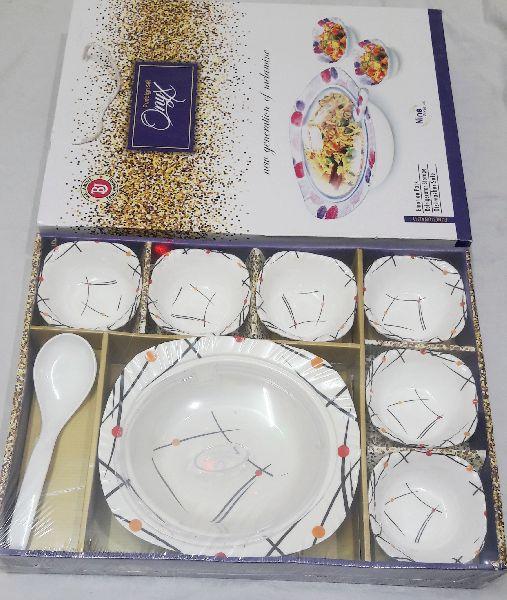 Glass Pudding Set