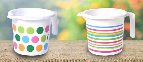 Printed Plastic Bath Mugs