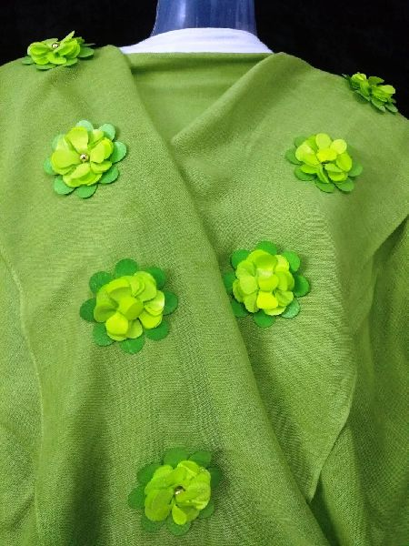 3D Embroidered Green Stole