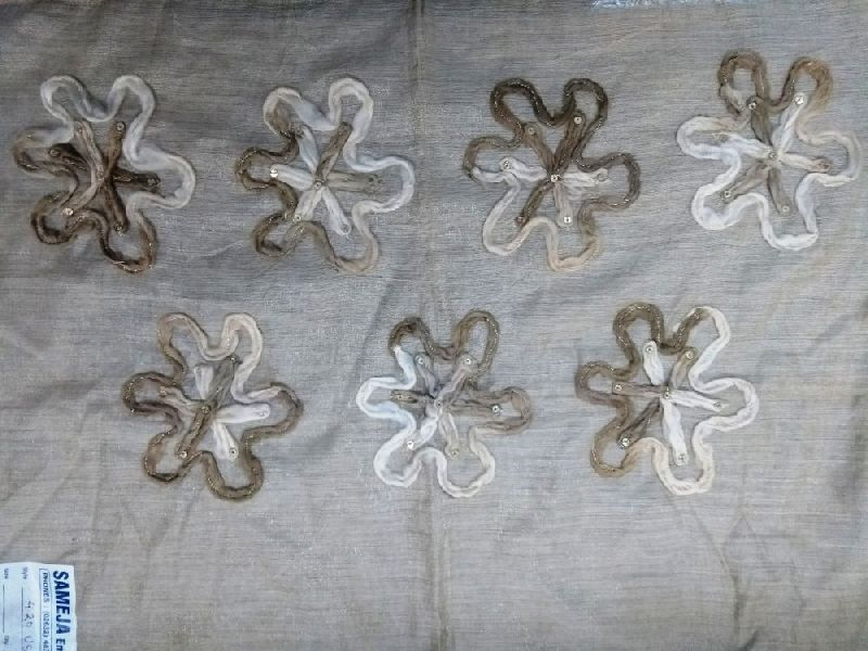 3D Embroidered Beige Stole