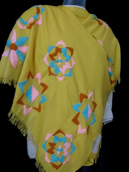 Coloured  Embroidered Stole