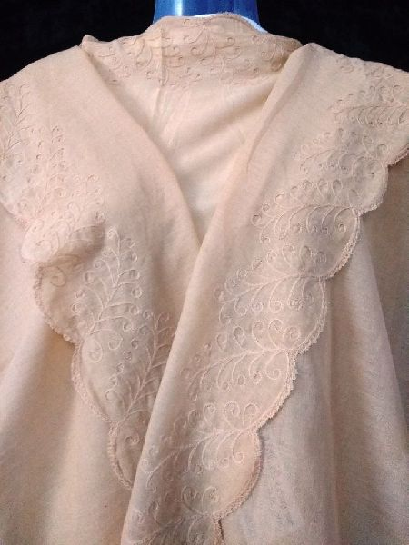 Tonal Embroidered Stole