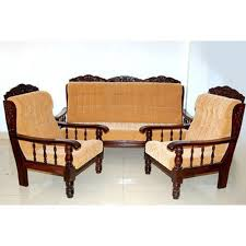wood sofa set