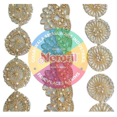 Designer Beaded Zari Lace