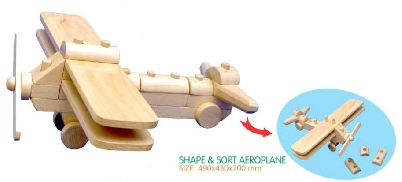 Wooden Aeroplane Toy