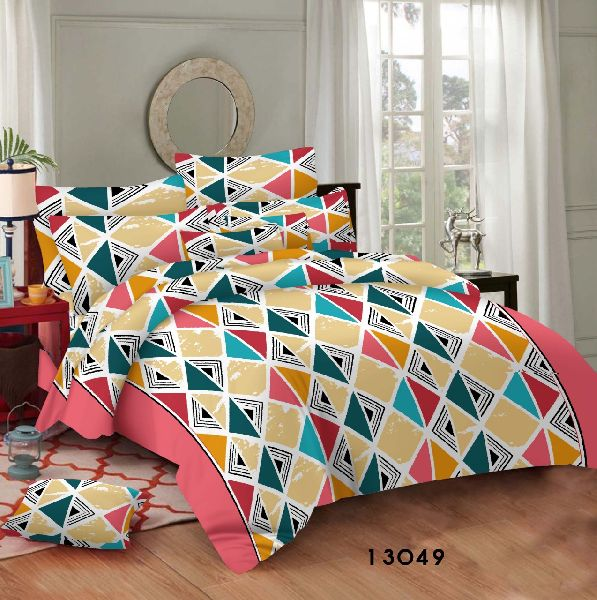 Geo Cotton Bed Sheets