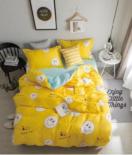 Yelow Cotton Bed Sheets