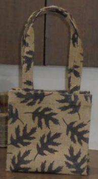Laminated Allover Print Jute Bag