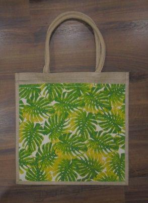 Laminated Natural Jute Bag with Front Canvas Pocket